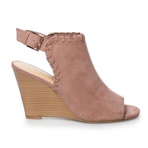 LC Lauren Conrad Mousse Women's Wedge Ankle Boots
